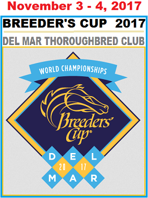2017 Breeders' Cup World Championships at Del Mar Thoroughbred Club on November 3-4, 2017