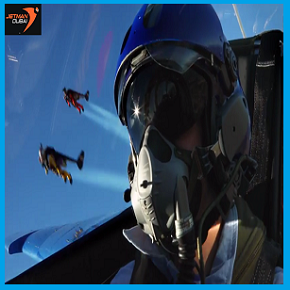 Over the French countryside, Dubai Jetmen Flight with French Airforce's Patrouille