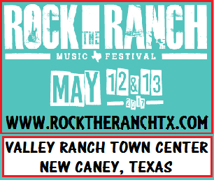Rock the Ranch Music Festival is coming to New Caney, Texas on May 12th and 13th.  The event includes a BBQ cook-off, free-style motocross performances and street performers, will also showcase two nights of headline performances in the planned 12,000 capacity amphitheater. Camping will also be a part of the festival, hosted on 43 acres of land near the development.