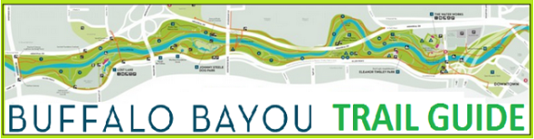 cartoonityvuehouston says GET hiking the bayou with BUFFALO BAYOU TRAIL GUIDE