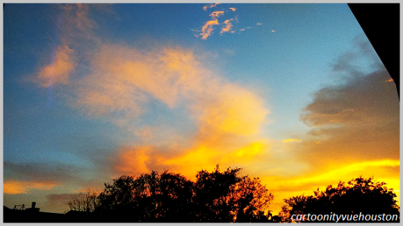 cartoonityvuehouston says another south texas sunset sky.
